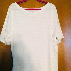 White cotton plus t-shirt, NWT